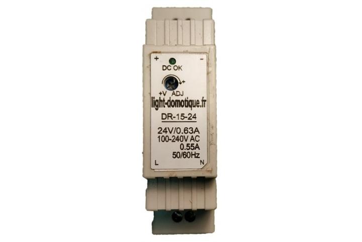 L&D Alimentation 24V DC 0,63A installation Rail Din DR-15-24