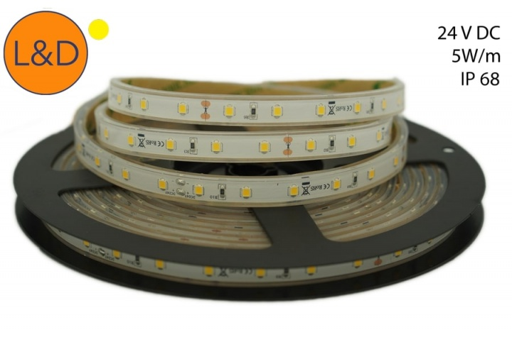 Ruban LED Blanc chaud IP68 5W/m