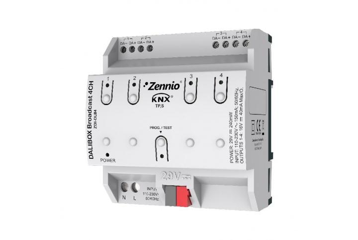 Zennio Passerelle DALI DALIBOX Broadcast 4CH ZDI-DLB4