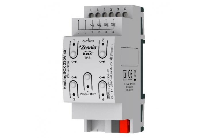 Zennio HeatingBox 230V 4X Actionneur de chauffage ZCL-4HT230