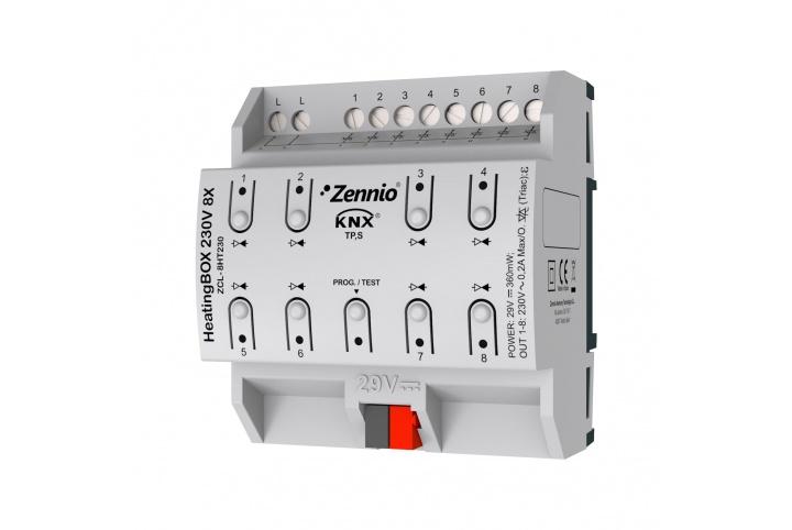 Zennio HeatingBox 230V 8X Actionneur de chauffage ZCL-8HT230