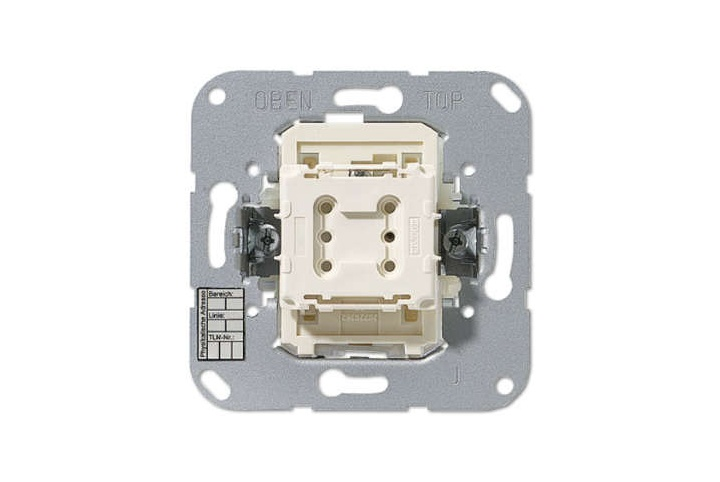JUNG Bouton poussoir simple KNX à voyant - point milieu 4071.02 LED