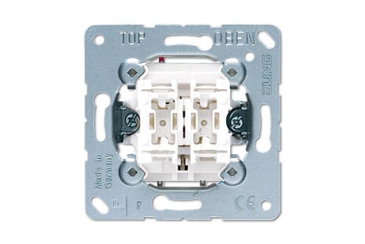 JUNG Mécanisme double bouton poussoir avec 2 contacts à fermeture 230V 531-2USI
