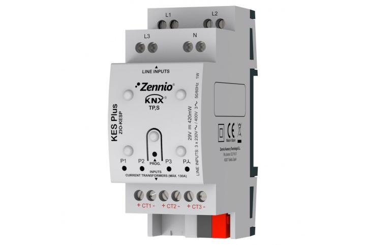 Zennio KES Plus Compteur d'énergie électrique KNX ZIO-KESP