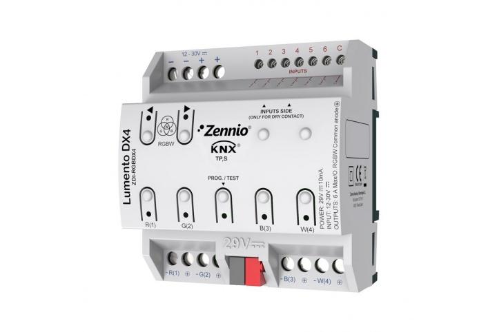 Zennio Lumento DX4 ZDI-RGBDX4