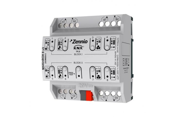 Zennio MAXinBOX 8 V3 Actionneur 8 sorties KNX
