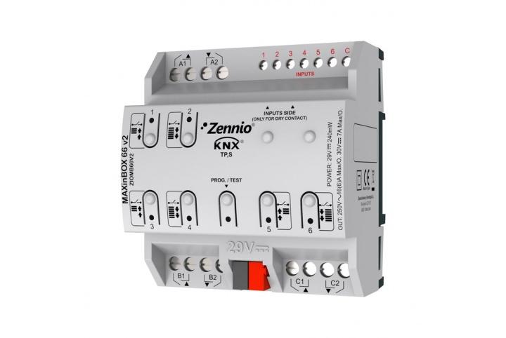 Zennio MAXinBOX 66 V2  Actionneur 6 sorties 6 entrées KNX -  ZIOMB66V2