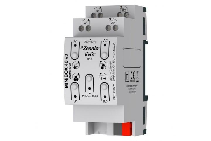 Zennio MINiBOX 40 V2 Actionneur 4 sorties KNX