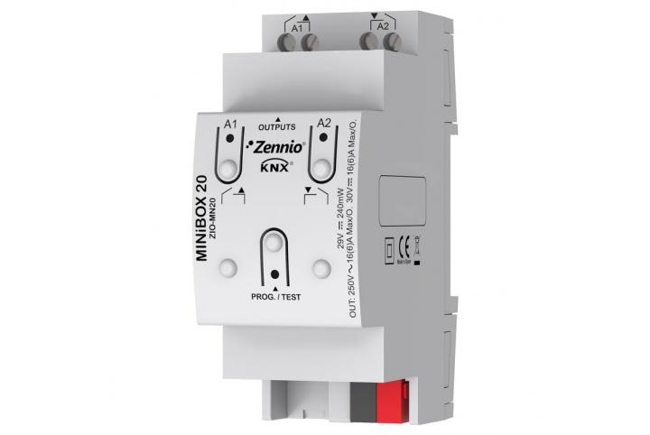 Zennio MINiBOX 20  Actionneur 2 sorties KNX -  ZIO-MN20