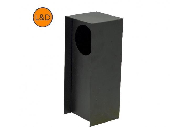 Potelet simple noir givré 9005