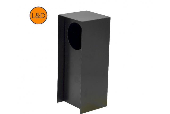 Potelet simple noir mat 9005