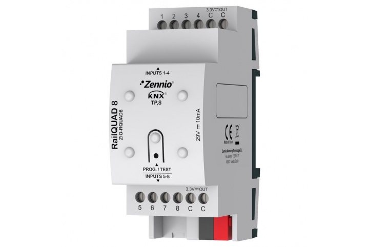 Zennio RailQUAD 8 Module 8 entrées