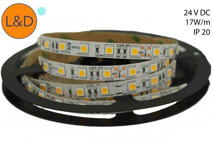 Ruban LED Blanc froid IP20 14W/m