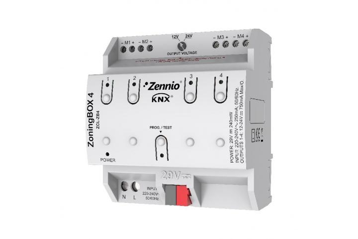 Zennio ZoningBOX 4 Actionneur de climatisation 4 zones ZCL-ZB4