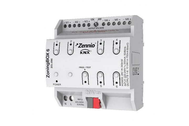 Zennio ZoningBOX 6 Actionneur de climatisation 6 zones ZCL-ZB6